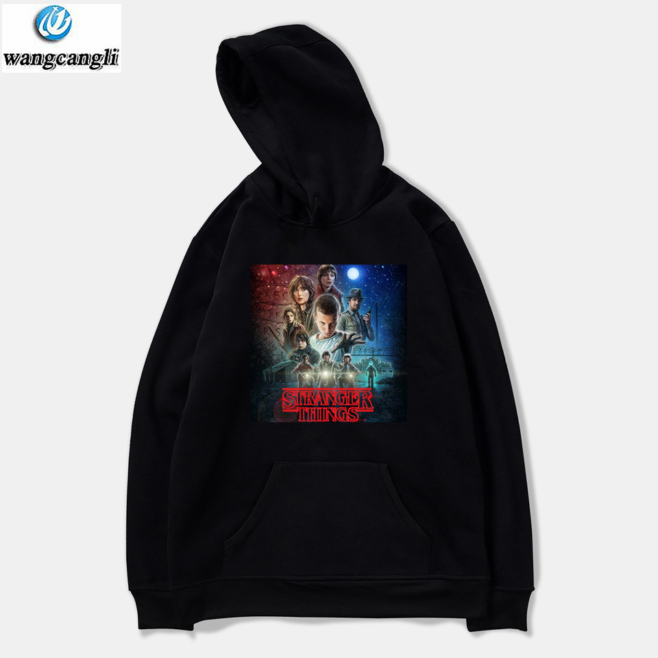 Stranger Things Winter Hoodies Men Jacket Hooded Pullover Comfortable Fashion Harajuku Funny Sweatshirt Men Streetwear
