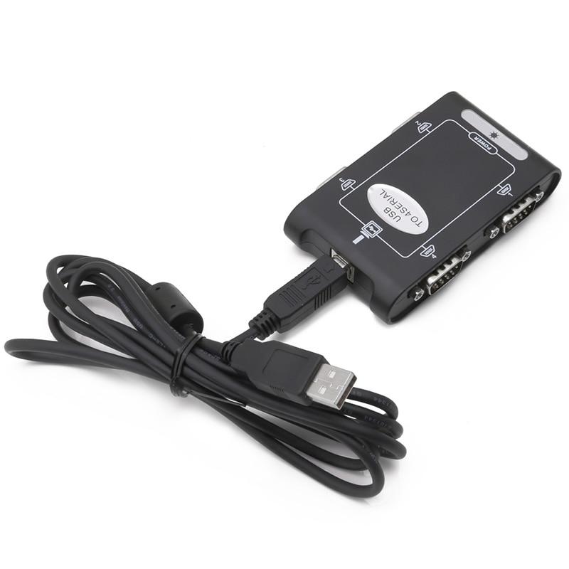 Image 5 - 9pin RS232 USB 2,0 до 4 портов Серийный DB9 COM разъемы контроллера адаптер концентратор
