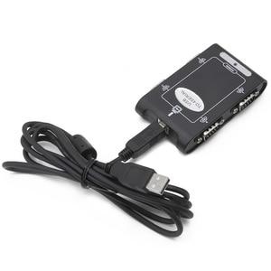 Image 5 - 9pin RS232 USB 2.0 כדי 4 יציאות סידורי DB9 COM בקר מחברים מתאם רכזת