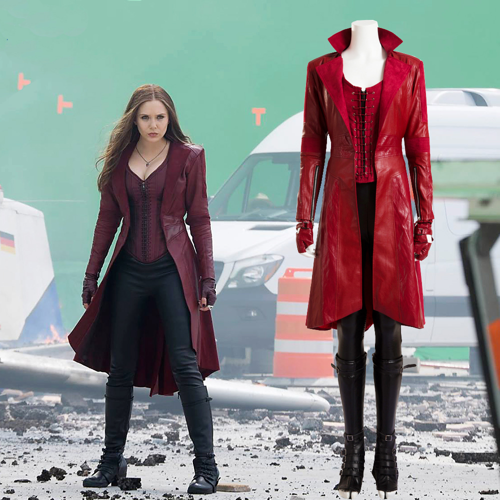 Quality Scarlet Witch Cosplay Costume Avengers Age of Ultron Wanda Maximoff Costume For Women