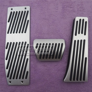Car Accessories For BMW E30 E32 E34 E36 E38 E39 E46 E87 E90 E91 X5 X3 Z3 Accelerator Brake Footrest AT Pedal Pad Stickers image