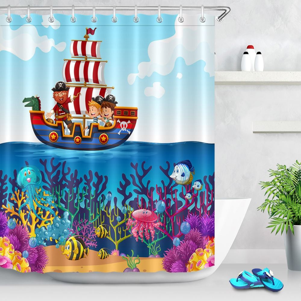 cartoon castle kids ship waterproof