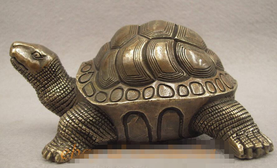 Chinese Fengshui Bronze Copper Collect Longevity Turtle Tortoise