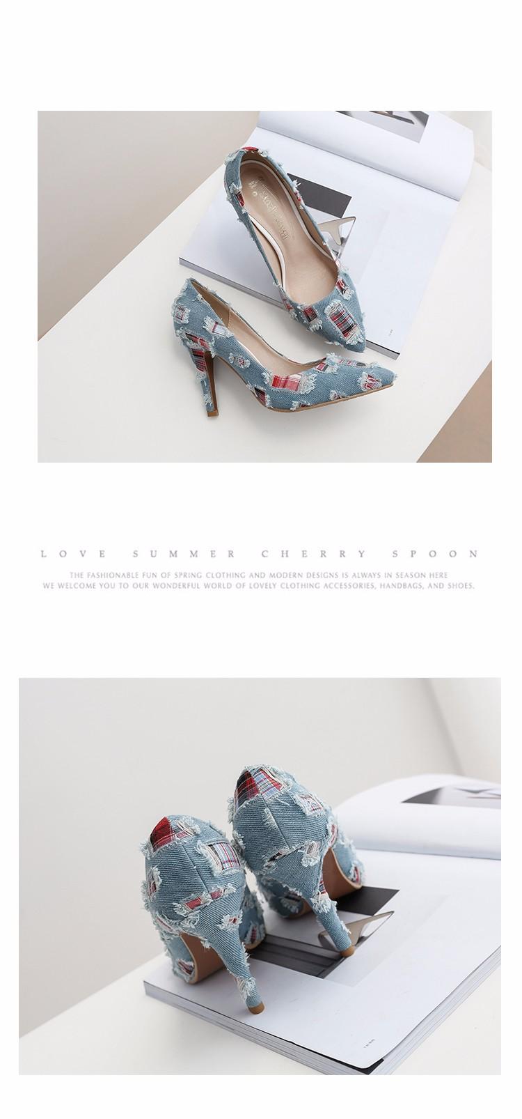 New arrival Denim Ladies Shoes pointed toe high heels Free Shipping! HTB1tV3YSpXXXXc0XVXXq6xXFXXX3