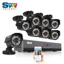 8CH 1080N HDMI AHD DVR CCTV System+8pcs 720P HD 1800TVL Outdoor Weatherproof Camera Home Security Video Surveillance Kit