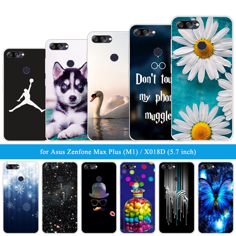 For Asus ZenFone Max Plus M1 ZB570TL Funny Cat Cases Siliocne 5.7 inch For Zenfone Max Plus M1 X018DC ZB570TL Soft TPU Shells