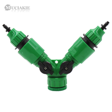 MUCIAKIE 1PC 2 Ways Garden Water Splitter 1/2'' 3/4'' Female Threaded to 4mm 8mm Barb Connector Adaptor Connect Tubing Hose