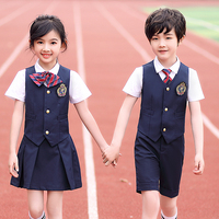 Russian kindergarten uniform summer white shirts and shorts and skirts suits for boys and girls british summer school uniform