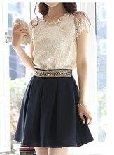 2016 Summer Style Female Shirt Chiffon Blouses Women Clothing Plus Size Lace Tops Vestidos Blusas De Renda Roupas Femininas