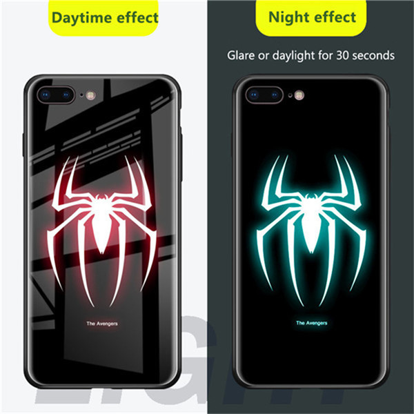 Чехол из закаленного стекла для iPhone X, XS, MAX, XR, 10, 6 S, 7, 8 Plus, 7 Plus, 8 Plus, 11 PRO, чехол для телефона с Бэтменом - Цвет: SPIDER