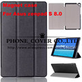 "Magnetic Stand pu leather Case cover For ASUS Zenpad S 8.0 Z580CA Z580C 8"" tablet cover case + screen protectors +stylus"