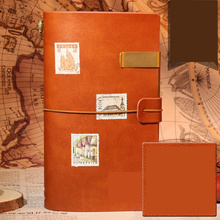 Leather Travel Journal Notebook Planners bullet journal Organizer Creative DIY Sketchbook Notepads Recording Daily Memos Gifts hua jie a4 composition books leather pu notebook business daily memos 200 sheets personal organizer notepads lined journal book