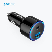 Anker 49.5W PowerDrive Speed+ 2 USB C Car Charger,One 30W PD Port for MacBook iPad iPhone &19.5W Fast Charge Port for S9/S8 etc