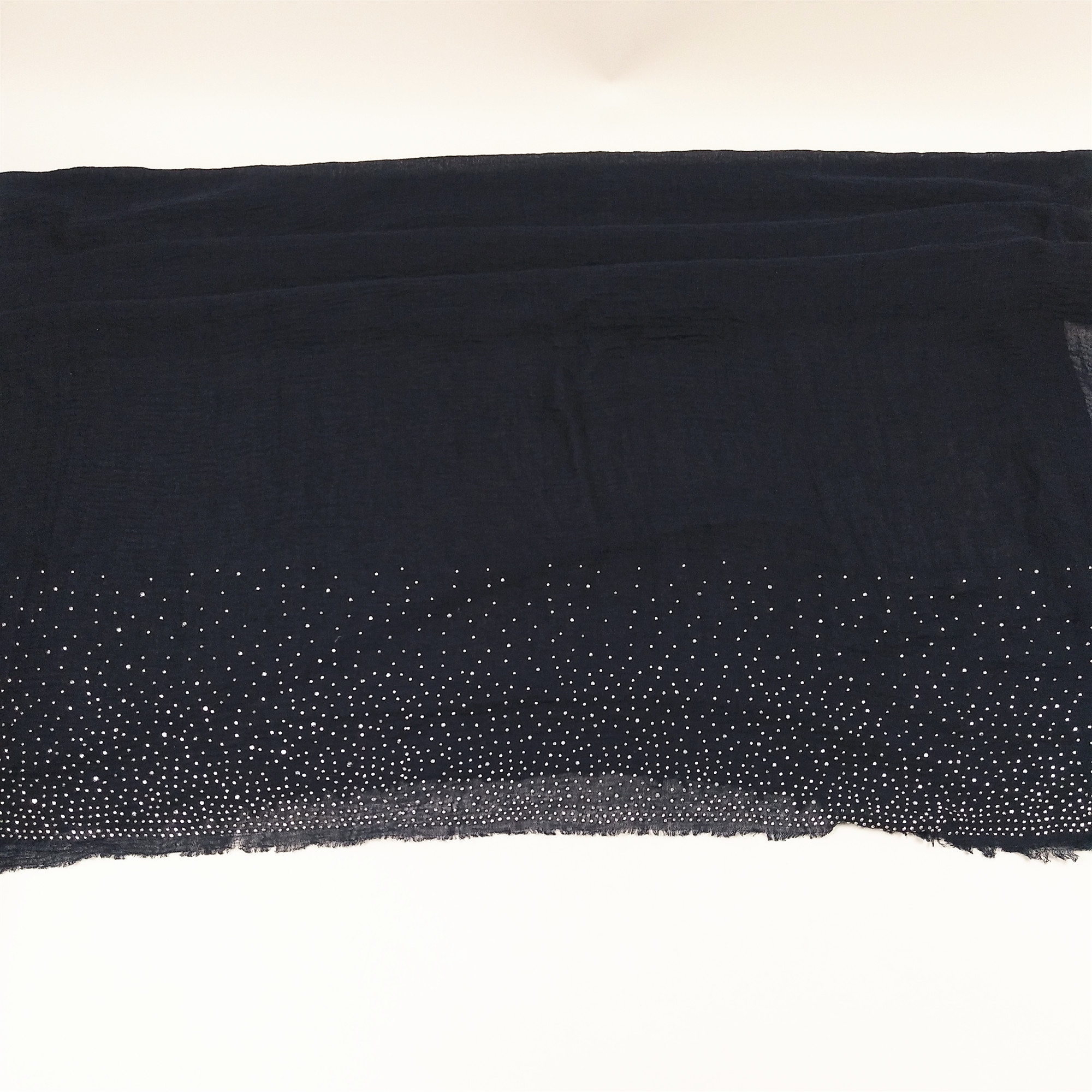 G23 High quality silver bead viscose crinkle cotton hijab bubble shawl diamond  scarf women wrap headband 180*90cm 10pcs/pcs