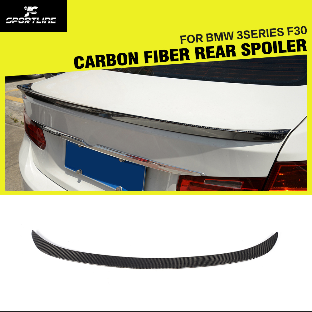 Car-styling Carbon Fiber Rear Trunk Spoiler Boot Lip Wings for BMW 3 series F30 2012 - 2014Car-styling Carbon Fiber Rear Trunk Spoiler Boot Lip Wings for BMW 3 series F30 2012 - 2014