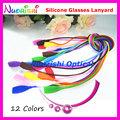5pcs L610 12 Colors Rectangle Head Design High Quality Anti-Slip Silicone Eyewear Sunglasses Long Cords Lanyard Free Shipping