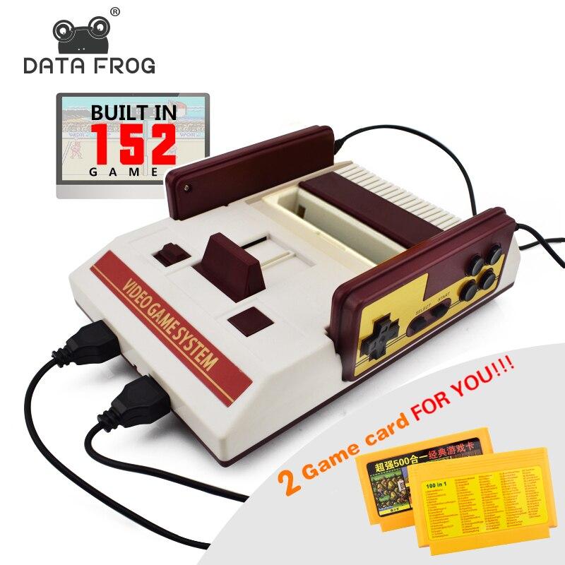 Daten Frosch Retro Dual Controller 8 Bit TV Videospielkonsole Für FC Klassische Spiele Familie TV Video Game Player Gebaut In 500 + Spiele