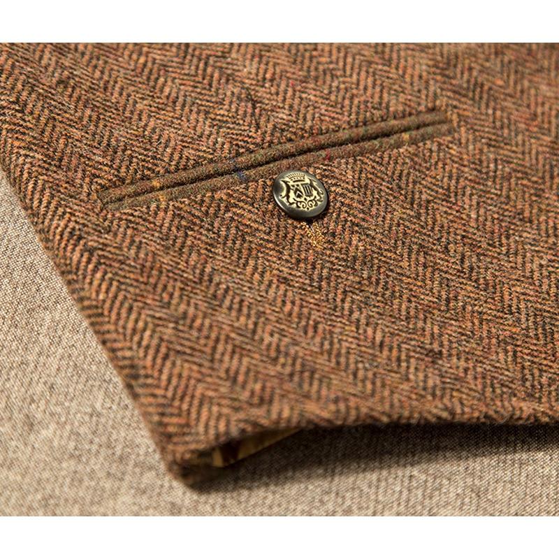 Marke Männer Clothing2016Autumn Winter 31.2% Wolle männer casual slim fit anzug weste weste männer woolen formale hochzeit gilet V ausschnitt - 3