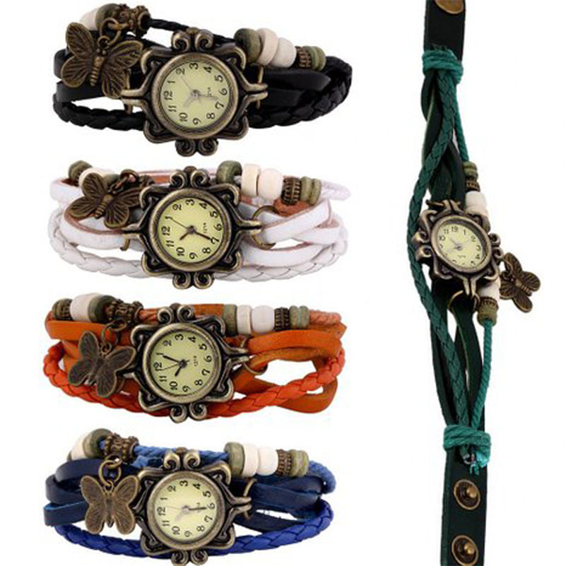Amazing, Best gift for friend quartz watch New Wholesale Lot of 5pcs Womens Girls Butterfly Bracelet Wrist Watches Dec 19 wireless restaurant calling system 5pcs of waiter wrist watch pager w 20pcs of table buzzer for service