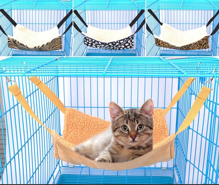 Soft Fleece Cat Hammock Hanging Bed