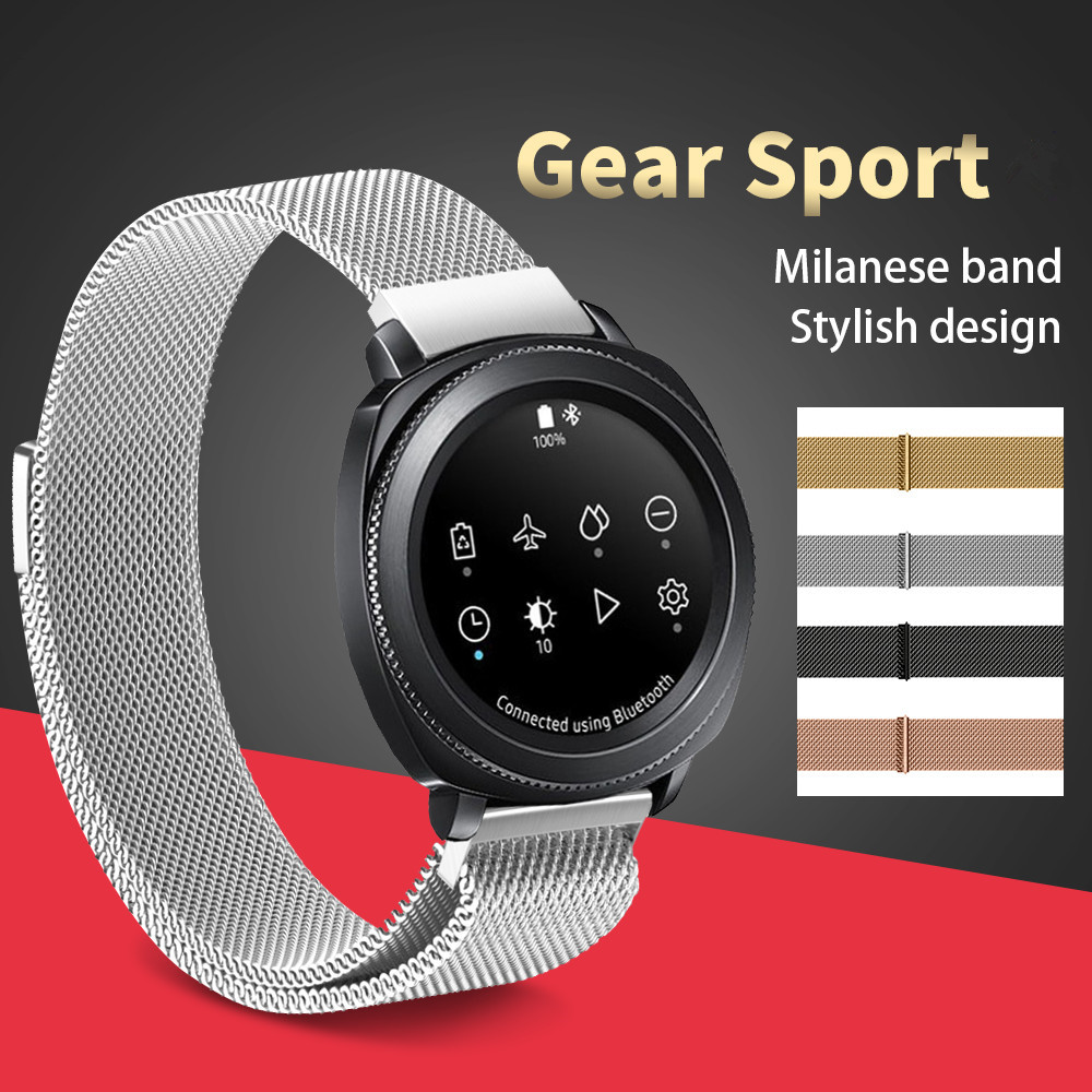 Stainless Steel Metal Strap For Samsung Gear Sport Magnetic Release Milanese Steel Watch Band For Samsung Gear S2 Classic Band