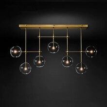 Lámpara LED postmoderna para techo luces colgantes para sala de estar, accesorios para el hogar, lámparas colgantes nórdicas para comedor, iluminación de bola de cristal