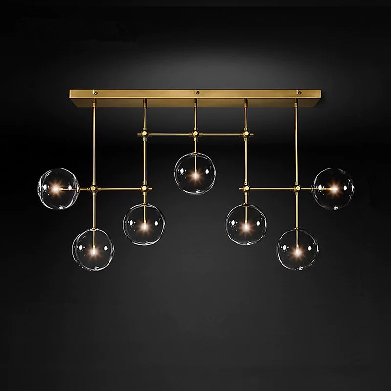 Postmodern LED chandelier ceiling living room hanging lights home fixtures Nordic dining room pendant lamps Glass ball lightingPendant Lights   -