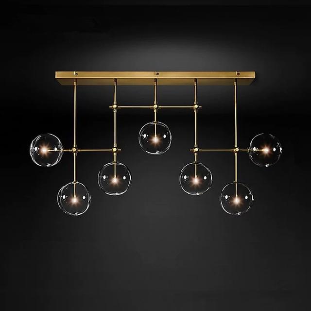 Postmodern LED chandelier ceiling living room hanging lights home fixtures Nordic dining room pendant lamps Glass ball lighting