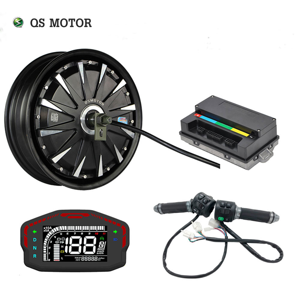 QS Motor 2019 12*3.5inch 1500W 48V 55kph BLDC E-Scooter Hub Motor Kits Power Train with EM50SP controller
