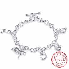 Женский браслет lekani из стерлингового серебра 925 пробы с