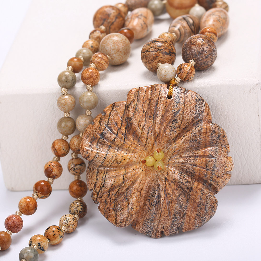 5*5cm Natural Stone Pendants & Necklaces Big Boho Necklaces Ethnic Bohemian Jewelry Statement Flower Carving Agate Rough Amber 探索科学百科 discovery education(中阶)2级a3·泰坦尼克与冰山