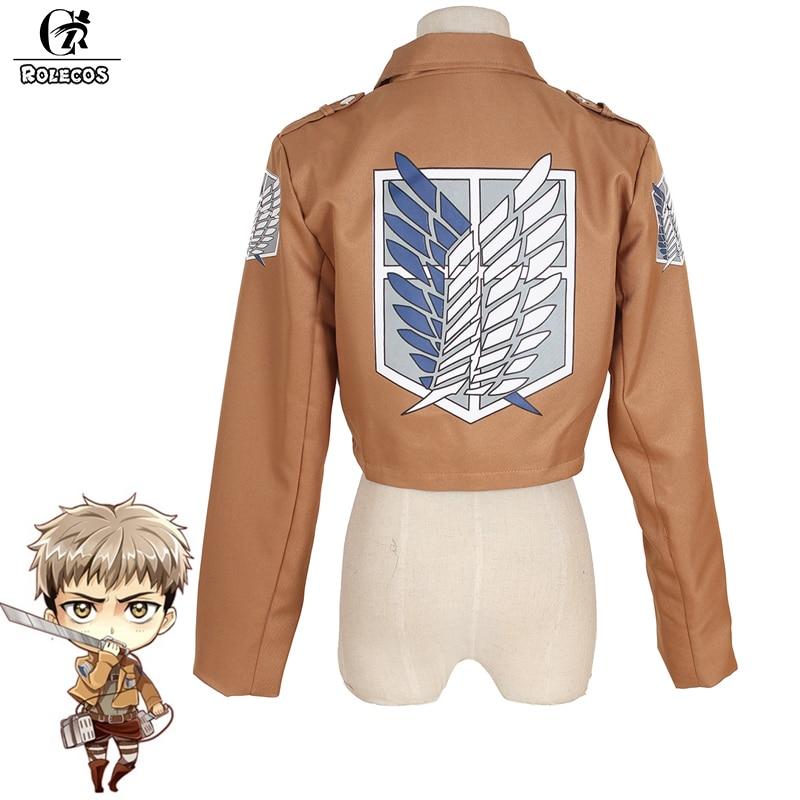 ROLECOS Anime Attack on Titan Cosplay Costumes Shingeki no Kyojin Mikasa Ackerman Eren Yeager Scouting Legion Cosplay Jacket