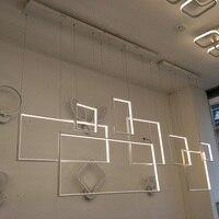 Minimalism Creative Led Chandelier For Living Dining Kitchen Room Home Dec AC85 265V Aluminum Body Modern