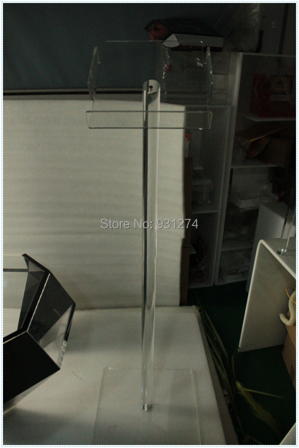 Floor Standing A4 Acrylic brochure holder Clear school office lobby newspaper rack Lucit ...