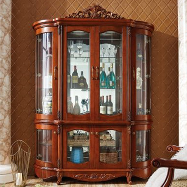 e5bfe8927186 vintage cabinet living room cabinet Antique arch door cabinet solid wood  cabinet