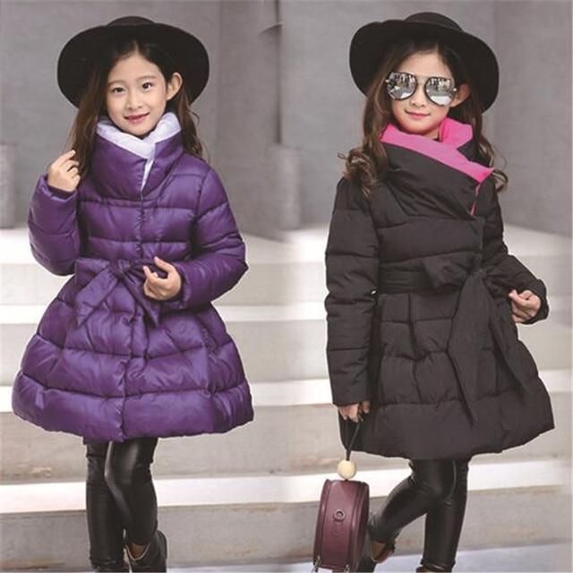 f66ce2457 JMFFY niñas abrigos y chaquetas de invierno Outwear Chaqueta larga caliente  Niños Niñas Ropa niños Parkas niñas Bebé Ropa 2018 4 -15 t