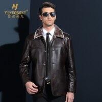 Genuine Jacket For Men Faux Fur Coat Men S Brand Wool Jacket Male Natural Leather Jacket