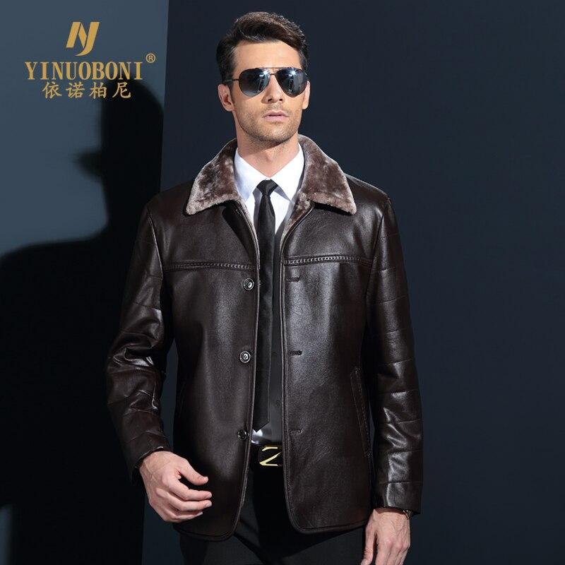 Genuine Jacket For Men Faux Fur Coat Men's Brand Wool Jacket Male Natural Leather Jacket Men Top Quality Casual Overcoat XXXL