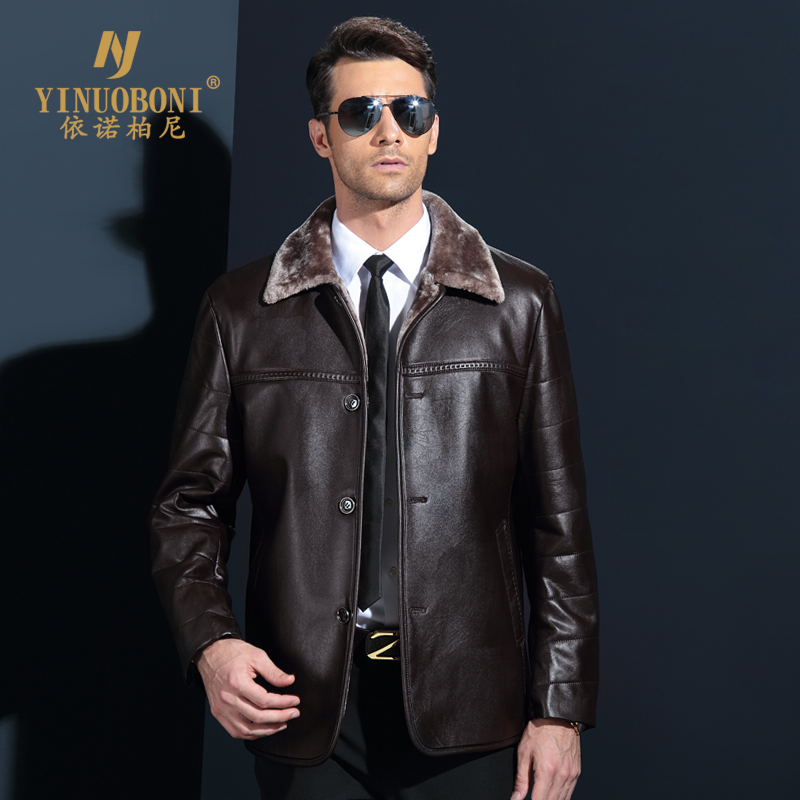 Genuine Jacket For Men Faux Fur Coat Mens Brand Wool Jacket Male Natural Leather Jacket Men Top Quality Casual Overcoat XXXL