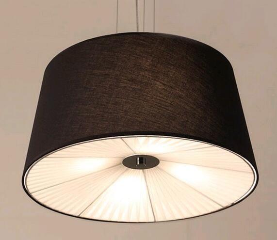Nordic A1 American rural countryside modern minimalist style living room dining room linen fabric pendant light ZH