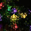 Solares de Luces Хадас де Cuerda 7 М 50 LED Decorativos Наружные Солнечные Открытый Сад Освещение Украшения Fariy Свет Рождества