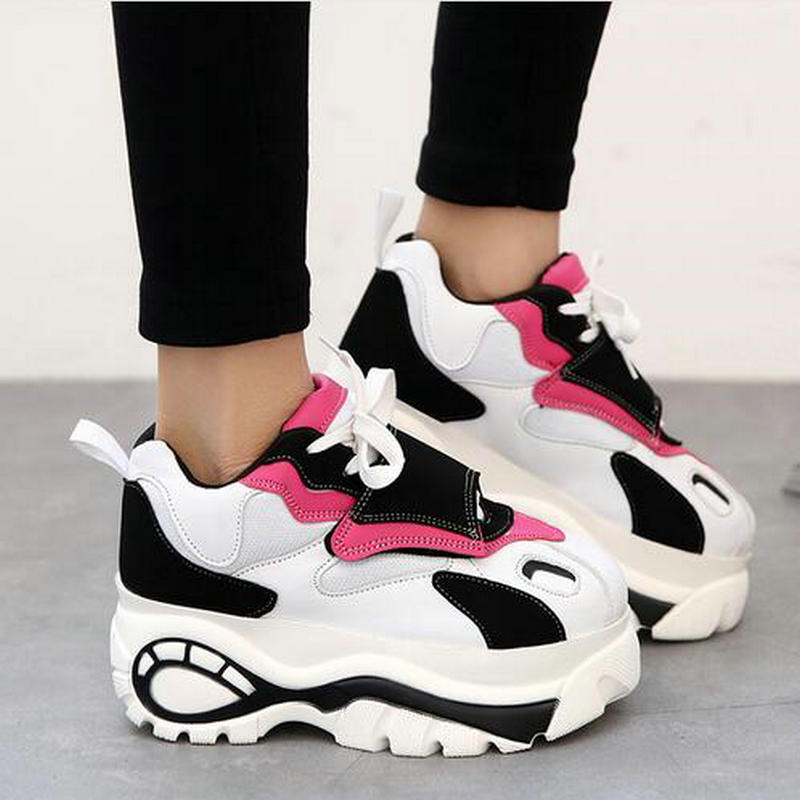 2018 Women Shoes Sneakers Flats Zapatillas Deportivas Woman Creepers Casual Shoes Increasing Heel Zapatos Mujer Flat Platform мужские кроссовки zapatillas deportivas sport shoes men sneaker ladies trainers 2015 zapatillas deportivas new 2015 unisex rubber flat sport shoes woman sneakers