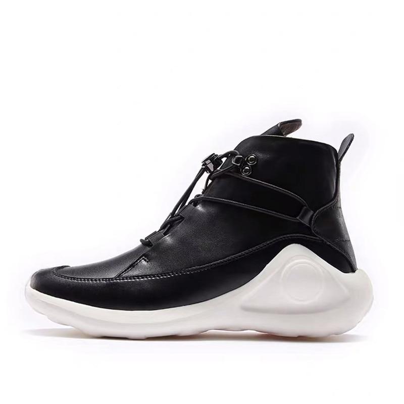 Delivr/черные мужские кроссовки унисекс; Вулканизированная обувь на толстой подошве; Masculino Adulto; Мужская обувь из натуральной кожи; формальная Мода 2019 года - 2