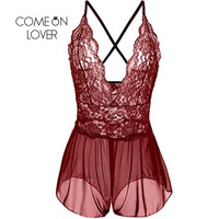 R70334 Top Selling Brand New Sexy Lingerie Set Red Lace See Through Langerie Sexy Erotic Popular