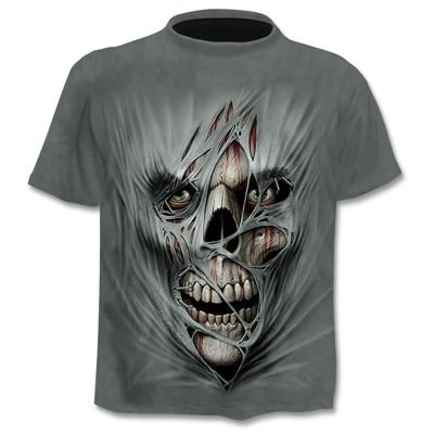 Mens Skull T Shirts Punk...