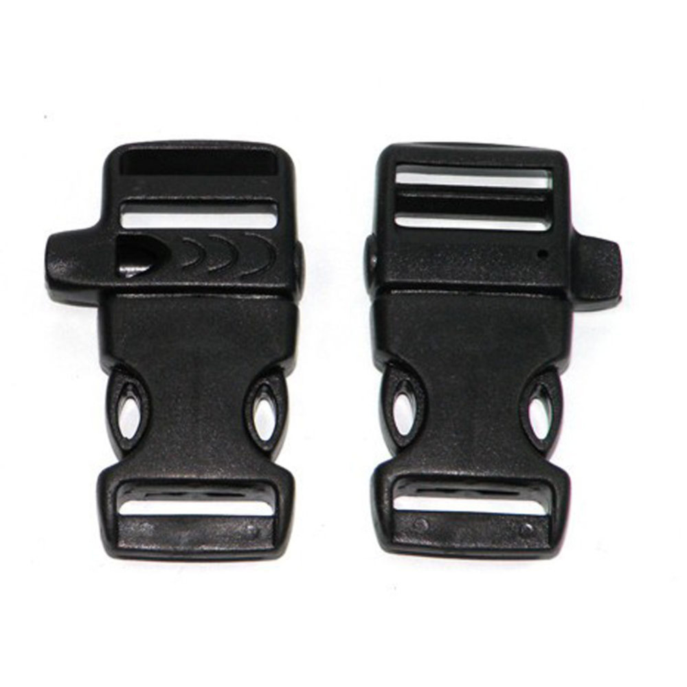 53*24mm Plastic Side Quick Release Backpack Bag Buckles Clip Cord Strap Kit Emergency Survival
