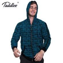 Taddlee Brand Men's Hoody Zipper Long sleeved Sweatshirt Active Blue Soft High Stretch Hoodie Clothing Sportswear Jacket Coats