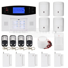DIYSECUR 99 Wireless 7 Wired Defense Zones Gsm Sim Alarm System Kit Pet-Immune Pir Motion Detector