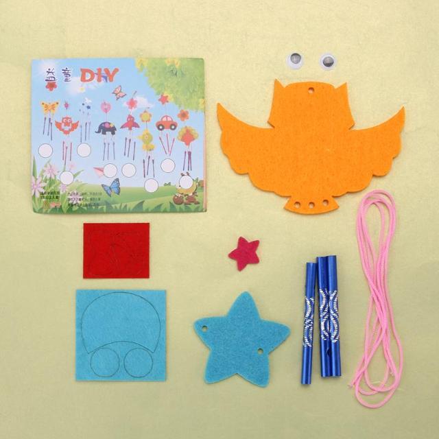 Kids Child DIY Wind Chimes Aeolian Bells Educational Puzzle Toys Kids Craft Kits handmade felt plush toys