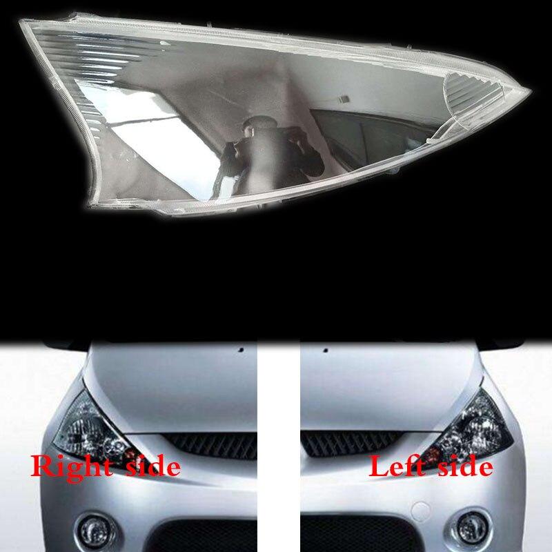 for Mitsubishi Grandis front headlamps transparent lampshades lamp shell masks headlights cover lens Headlight glass Mitsubishi Pajero
